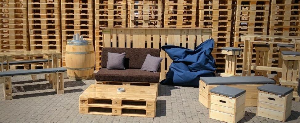 Palettenmöbel, Palettenkissen, SItzsäcke & mehr kaufen auf SuperSack.de