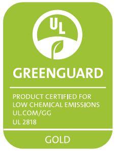 Greenguard Zertifikat des Sunbrella Materials der Premium Palettenkissen Sunbrella