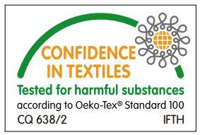 Ökotex Zertifikat des Sunbrella Materials der Premium Palettenkissen Sunbrella