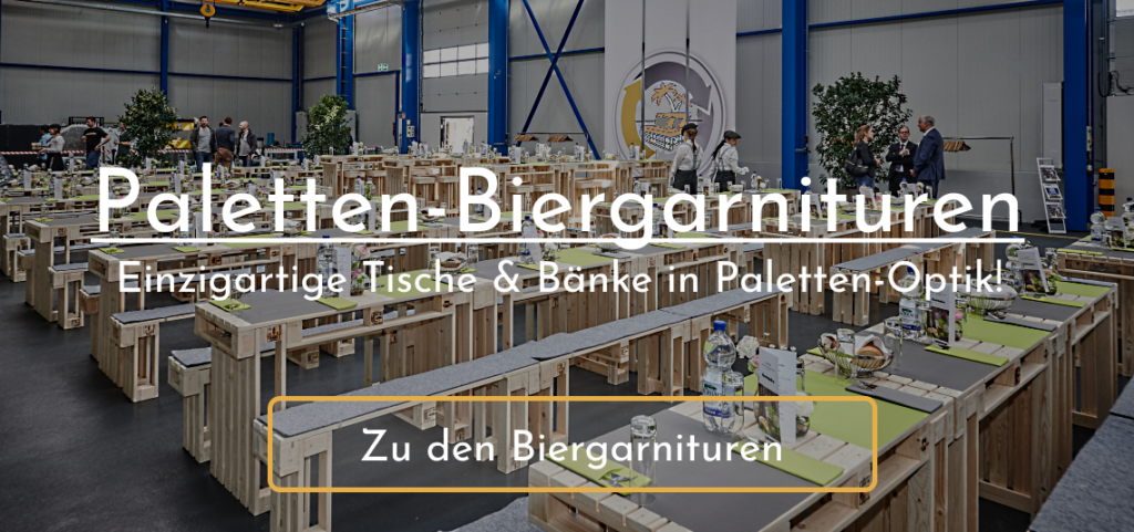 Paletten-Biergarnituren mieten bei SuperSack.de