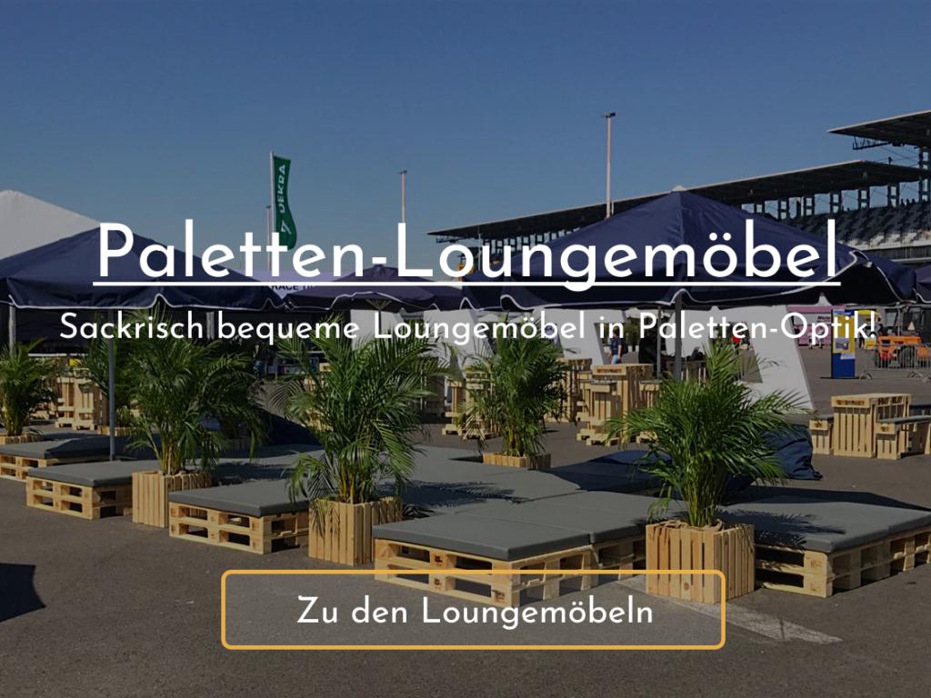 Paletten-Loungemöbel mieten bei SuperSack.de