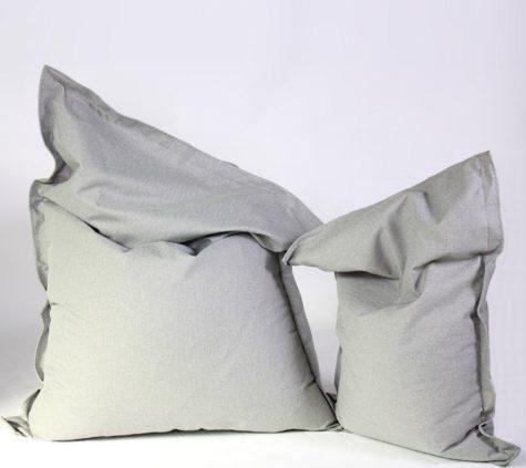 Sitzsack Savana hellgrau groß und klein (1)