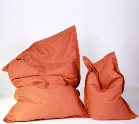 Sitzsack Savana orange groß und klein (1)