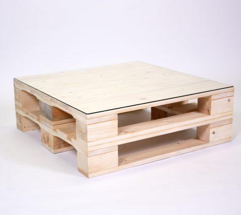 Paletten-Loungetisch mit & ohne Glasplatte | WIR ? PALETTENMÖBEL