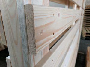 SuperSack Palettenmöbel - Fichtenholz Nahaufnahme