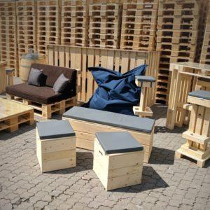 Hocker & Kleinmöbel mieten - 5 - Palettenmöbel mieten bei SuperSack