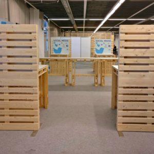 Raumtrenner mieten - Palettenmöbel mieten bei SuperSack