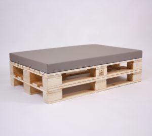 Palettenkissen Basic - Kunstleder - Sitzkissen - Taupe