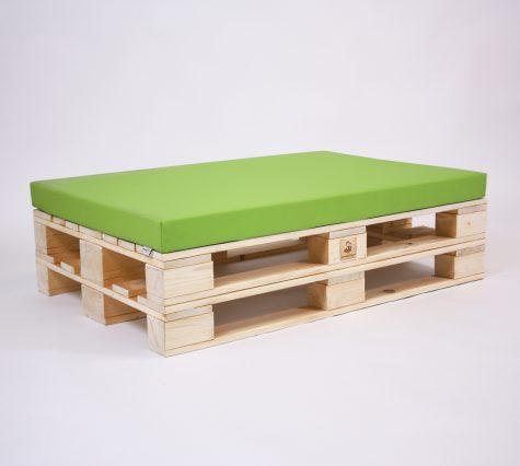 Paletten-Sitzinsel mit Palettenkissen Basic - Kunstleder - Green