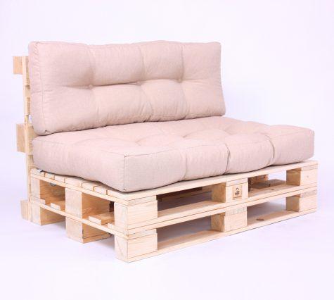 Palettenkissen Gesteppt - Savana - Sitzkissen & Rückenkissen - Beige