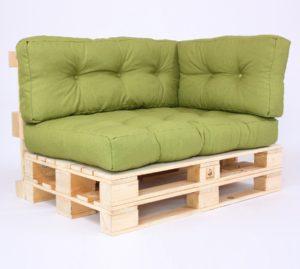 Palettenkissen Gesteppt - Savana - Sitzkissen, Rückenkissen & Seitenkissen - Green