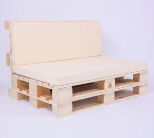 Palettensofa mit Palettenkissen Basic - Kunstleder - Beige