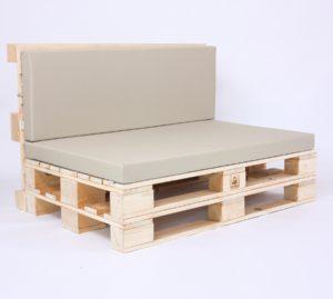 Palettensofa mit Palettenkissen Basic - Nylon - Beige