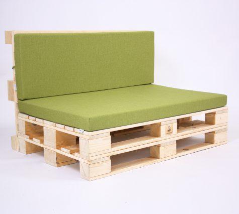 Palettensofa mit Palettenkissen Basic - Savana - Green