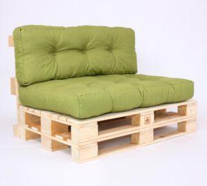 Palettensofa mit Palettenkissen Gesteppt - Savana - Green
