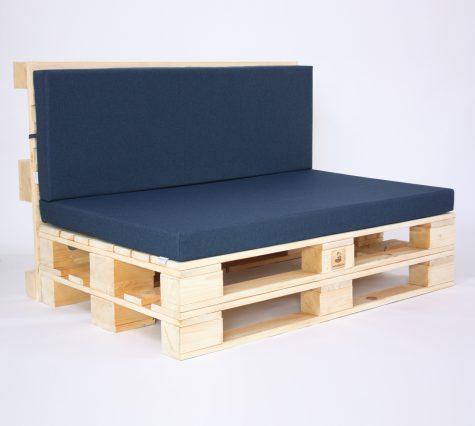 Palettensofa mit Palettenkissen Outdoor - Sapphire