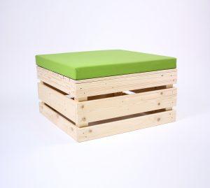 Palettensitzinsel 2.0 Klein mit Palettenkissen Kunstleder - Green