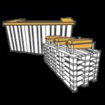 Bars, Tresen & Buffets mieten - Mietmöbel von SUPERSACK