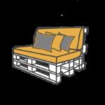 Palettenmöbel mieten - Sofas & Loungemöbel mieten - Classic