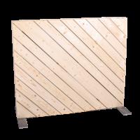 Trennwand diagonal blickdicht 1m
