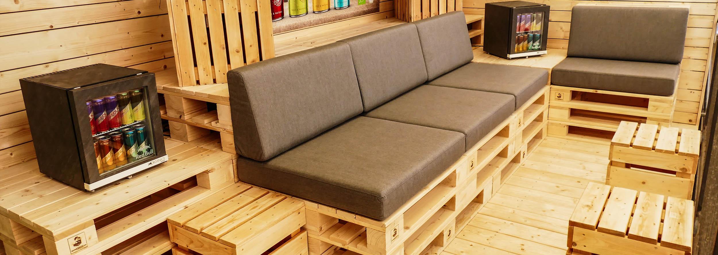 Einrichtung für VIP-Lounge für VIP-Bereiche bei SUPERSACK