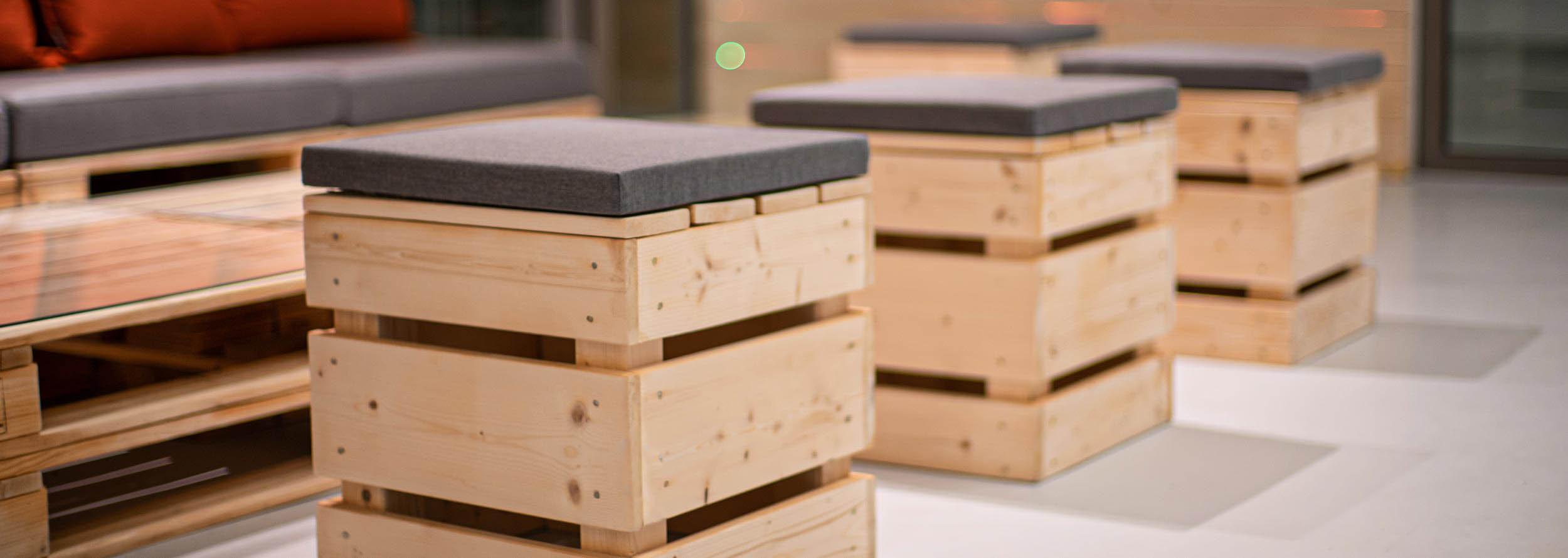 Paletten-Hocker, Bänke & Stühle kaufen bei SUPERSACK