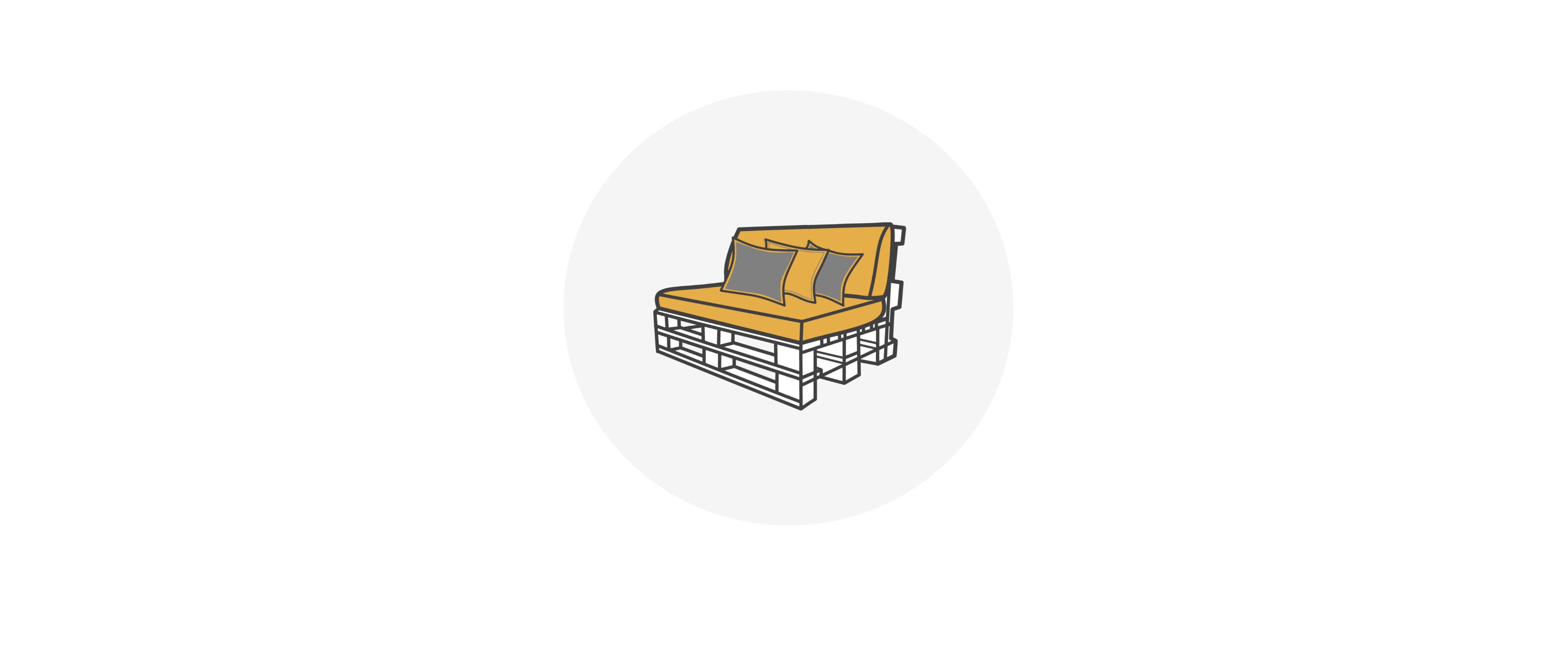 Palettenmöbel mieten bei SUPERSACK - Das Besondere mieten