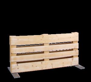 Paletten-Trennwand kurz Modul offen - Mietmöbel von SUPERSACK