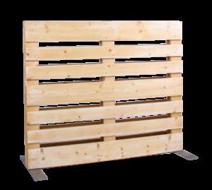 Paletten-Trennwand Modul offen - Mietmöbel von SUPERSACK