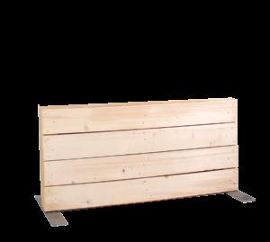 Paletten-Trennwand kurz Modul blickdicht - Mietmöbel von SUPERSACK