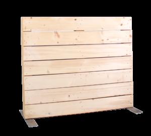 Paletten-Trennwand Modul blickdicht - Mietmöbel von SUPERACK