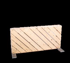Paletten-Trennwand kurz Modul diagonal blickdicht - Mietmöbel von SUPERSACK