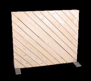 Paletten-Trennwand Modul diagonal blickdicht - Mietmöbel von SUPERSACK