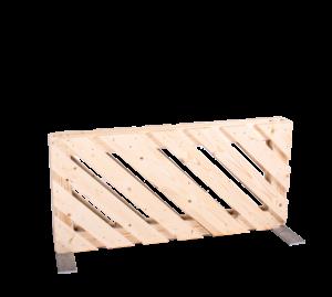 Paletten-Trennwand kurz Modul diagonal offen - Mietmöbel von SUPERSACK