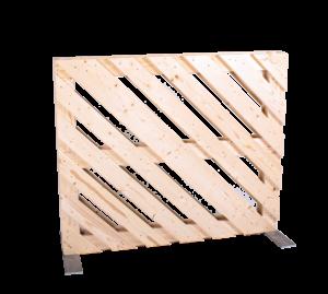 Paletten-Trennwand Modul diagonal offen - Mietmöbel von SUPERSACK