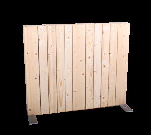 Paletten-Trennwand Modul vertikal blickdicht - Mietmöbel von SUPERSACK