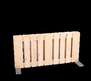 Paletten-Trennwand kurz Modul vertikal offen - Mietmöbel von SUPERSACK