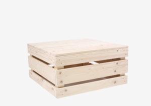 Paletten-Loungetisch 2.0 - 80x80 von SUPERSACK