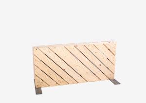 Paletten-Trennwand diagonal blickdicht 0,56m von SUPERSACK
