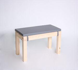Sitzbank KOMFORT mit Kunstlederauflage - Länge 80cm