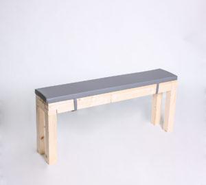 Sitzbank KOMPAKT mit Kunstlederauflage - Länge 120cm