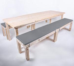 Sitzgarnitur KOMFORT - Tischlänge 240cm - 12 Personen