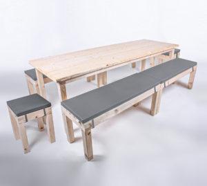 Sitzgarnitur KOMFORT - Tischlänge 240cm - 14 Personen