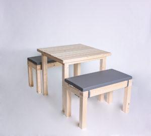 Sitzgarnitur KOMPAKT- Tischlänge 80cm - 4 Personen