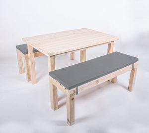 Sitzgarnitur KOMFORT - Tischlänge 120 cm - 6 Personen
