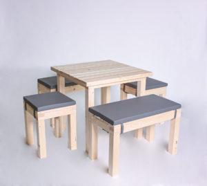 Sitzgarnitur KOMPAKT- Tischlänge 80cm - 6 Personen