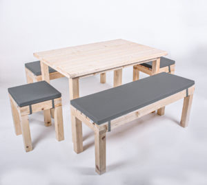 Sitzgarnitur KOMFORT - Tischlänge 120 cm - 8 Personen