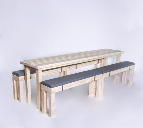 Sitzgarnitur KOMPAKT 12 Personen Tisch 240cm