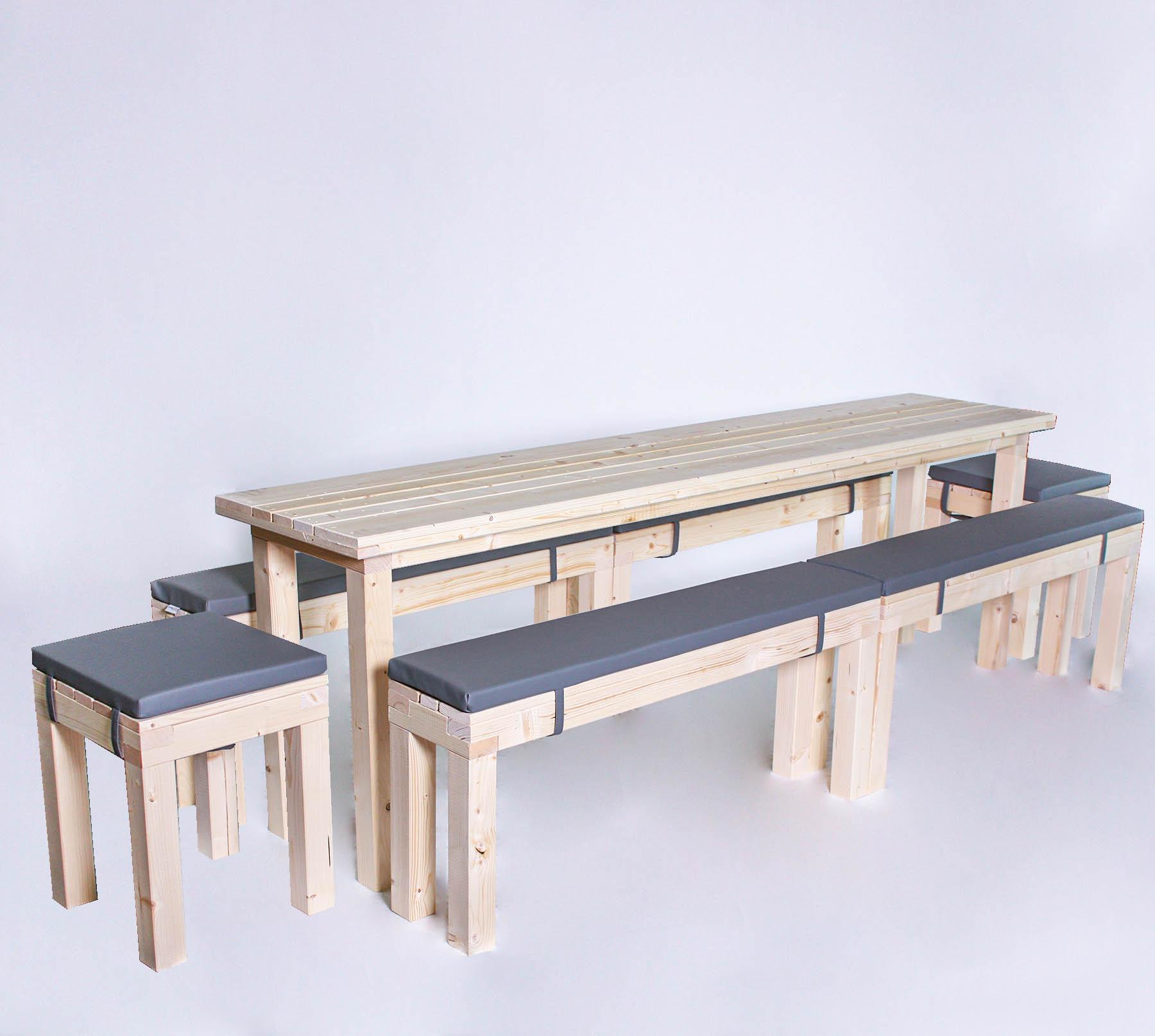 Sitzgarnitur KOMPAKT- Tischlänge 24cm - 14 Personen
