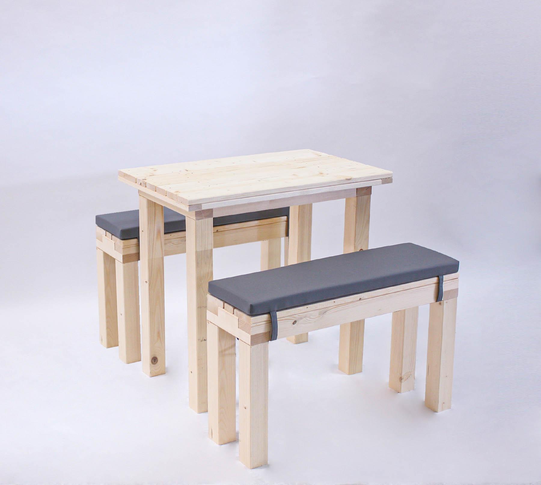 Sitzgarnitur KOMPAKT 4 Personen Tisch 80 cm bei SuperSack kaufen